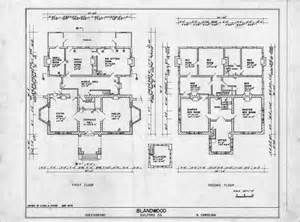 historic homes floor plans floor plans blandwood greensboro north carolina