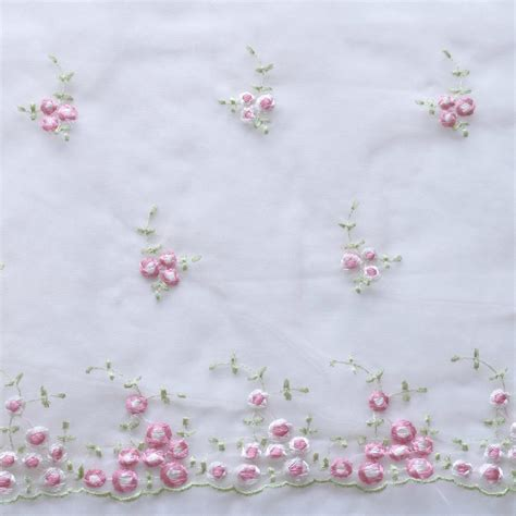 53 quot shabby chic embroidered organza lace fabric 1yd23 quot 1
