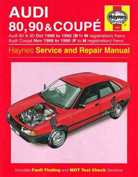 motor repair manual 1988 audi 80 90 free book repair manuals audi 80 90 coupe 1986 1990 haynes service repair manual uk