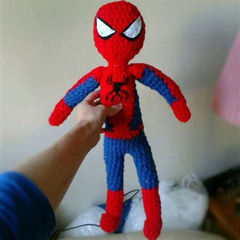 spiderman pattern crochet crocheted spiderman plush doll amigurumi cuddly stuffed