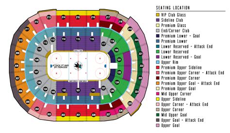 san jose sharks map sharks vs canucks sap center