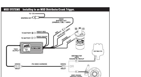 msd distributor wiring diagram fuse box and wiring diagram