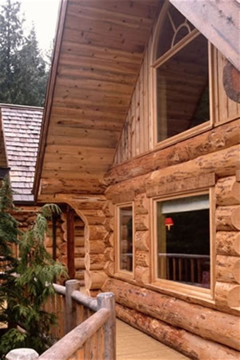 Telephone Pole Log Cabin by Bell Lumber Pole Products