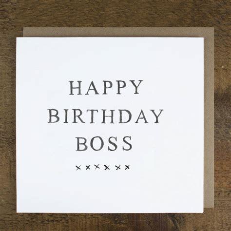 happy birthday boss card by zoe brennan