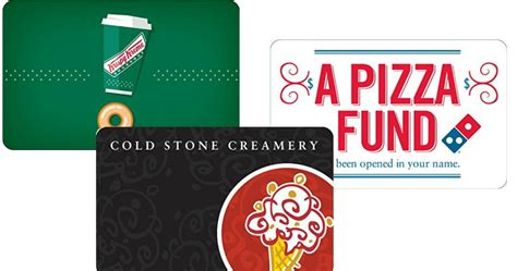 Cold Stone Gift Cards - amazon com get 50 krispy kreme domino s or cold stone gift card for only 40