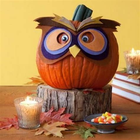 pumpkin owl 30 no carve pumpkin ideas for decoration hative