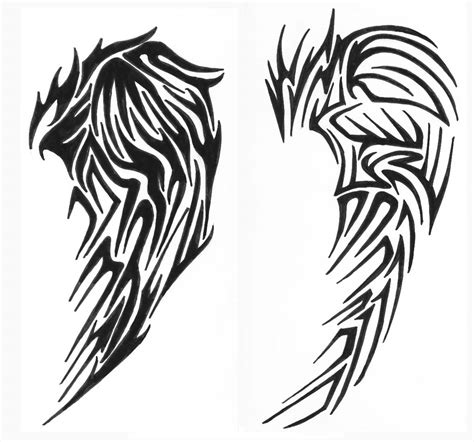 wing tribal tattoos tribal wings 2 by vexed jesus deviantart on