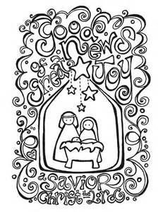 Nativity scene coloring page az coloring pages