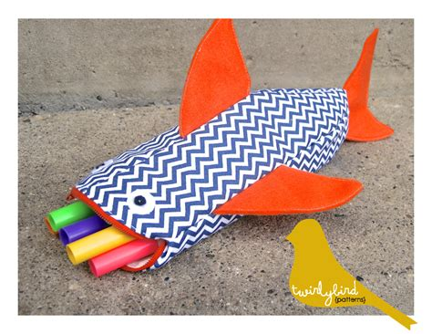 pattern sewing pencil case shark pencil case pattern the project lady