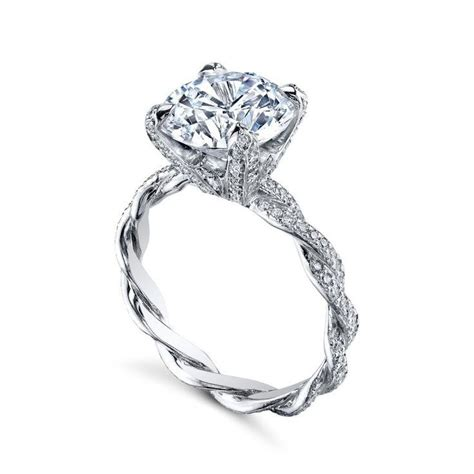 Twisted Band Engagement Ring - best 25 twist engagement rings ideas on