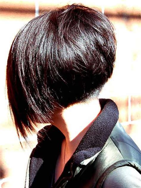 short high bob bob angled high enough to reveal a short buzzed undercut