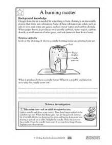 5th grade science worksheets a burning matter greatschools