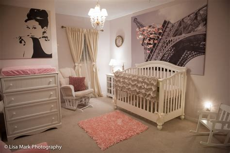 rose themed baby room jillian s vintage pink gold paris themed nursery