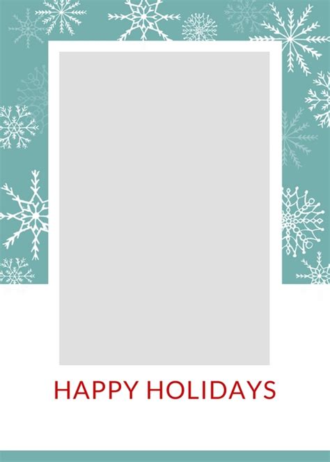 Happy Holidays Photo Card Template Free by Free Card Templates The Craft
