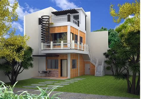 simple modern 3 story house plans modern house plan