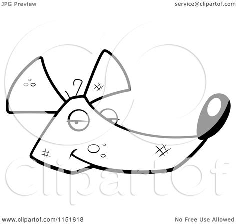 rat face coloring page cartoon clipart of a black and white rat face vector