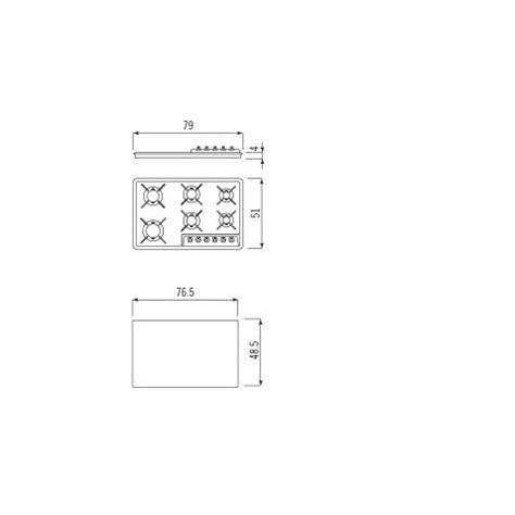 piano cottura semifilo alpes inox piano cottura f5796g semifilo alpes inox