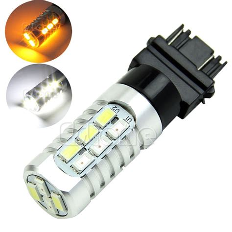 3157 led turn signal bulb with built in resistor aliexpress buy 50w 3157 dual color 5630 yellow white led switchback turn signal l light