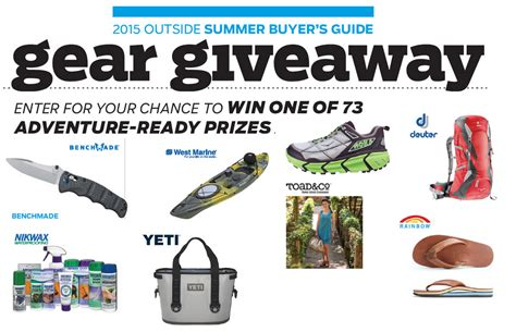 Outdoor Gear Sweepstakes - outside magazine summer gear giveaway 73 winners win one of these prizes sneakers