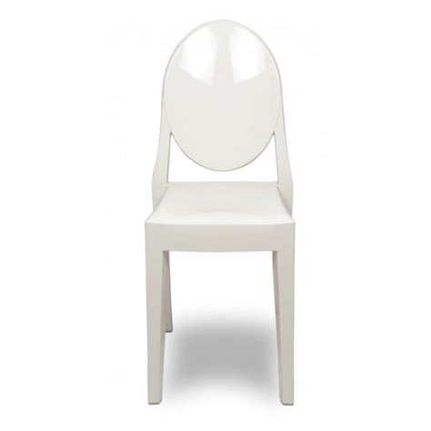 style white color ghost dining chair