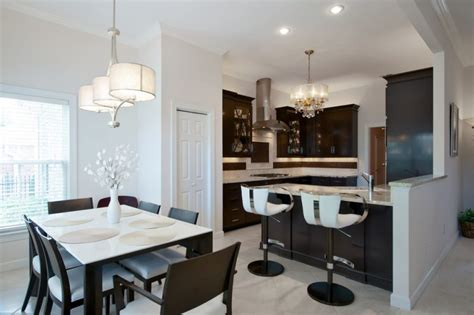 White Kitchen And Dining Room by Kitchen And Dining Room Best Solution For Achieving Space