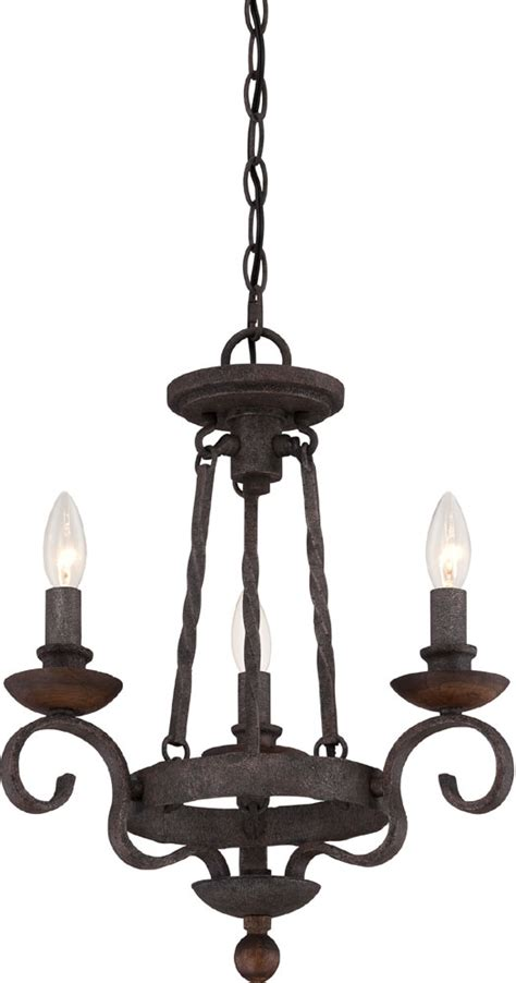 Black Hanging Chandelier Quoizel Nbe5303rk Noble Traditional Rustic Black Mini