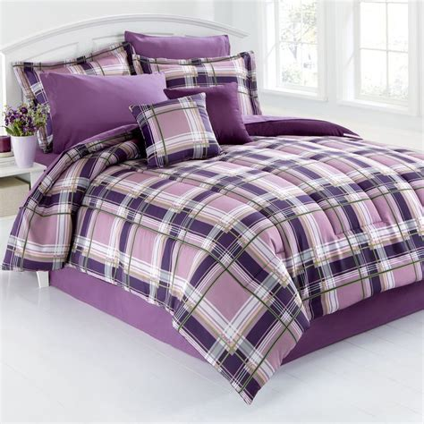 purple plaid comforter purple bedding koti ja astiat pinterest