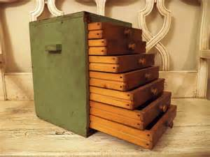 small wooden storage cabinet with drawers rustic green chest