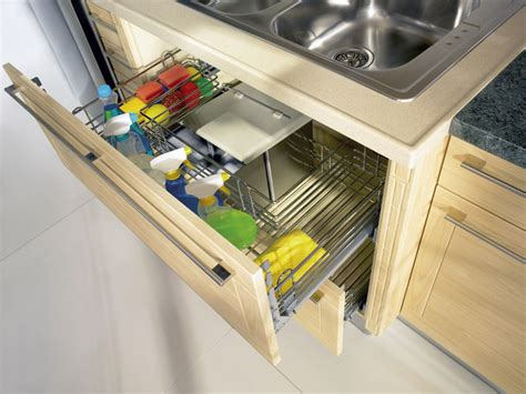 kitchen under sink storage pull out sink cupboard modern kitchen toronto by