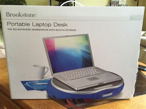 Brand New Brookstone Portable Laptop Desk Blue E Pad E Pad Portable Laptop Desk