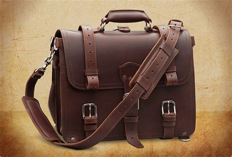 Handmade Briefcase - vintage handmade leather briefcase