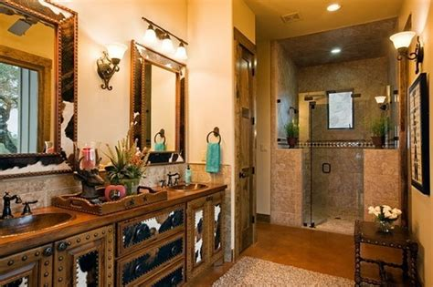 stylish western home decorating western bathroom choosing a paint color