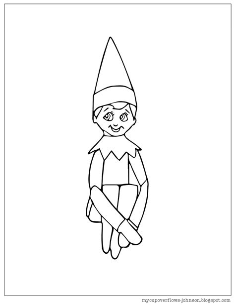 on the shelf coloring page my cup overflows