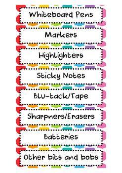 editable gratnells tray labels rainbow pop  monsterteachingideas