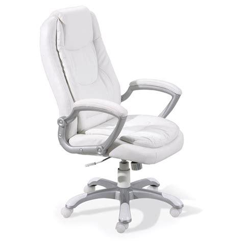Chaise De Bureau Quot Premium Quot Blanc Chaise De Bureau Blanc
