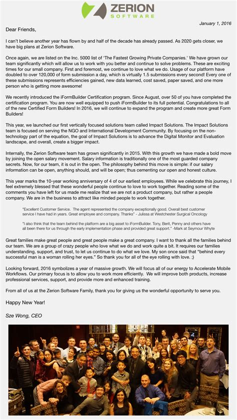 New Financial Year Letter To Employees l v l the new year letter to employees from ceo or can