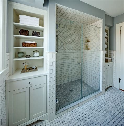 Shower Shelves Built Bathroom Contemporary With Glass Tile Contemporary Bathroom Shelves