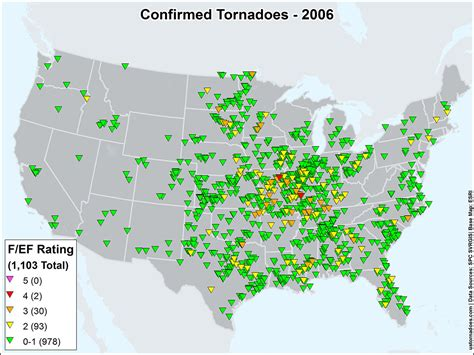 tornado map an overview of the modern tornado record 1950 through present maps u s tornadoes