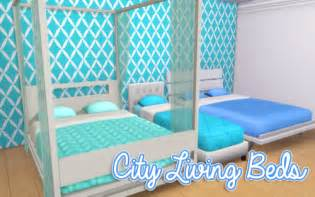 Modern Canopy Bed sims 4 bedding tumblr