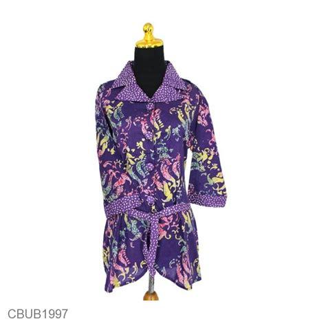 Blus Batik Kutubaru Tulis Jumbo F20417011mot1 Atasan Batik Kebaya blus tanggung jumbo motif abstrak daun winih blus lengan tanggung murah batikunik