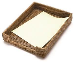 Rattan Desk Accessories Woven Rattan Paper Tray Basket Style Desk Accessories By Artifacts Trading Company
