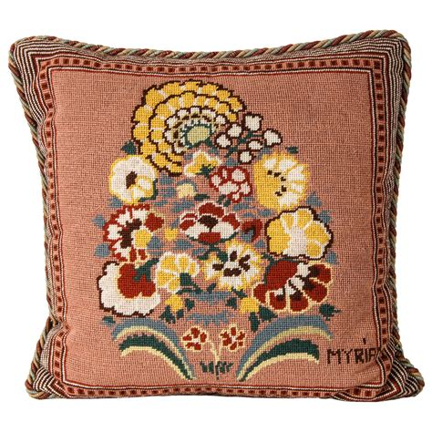 Needlepoint Pillow by A Great Needlepoint Pillow For Sale At 1stdibs