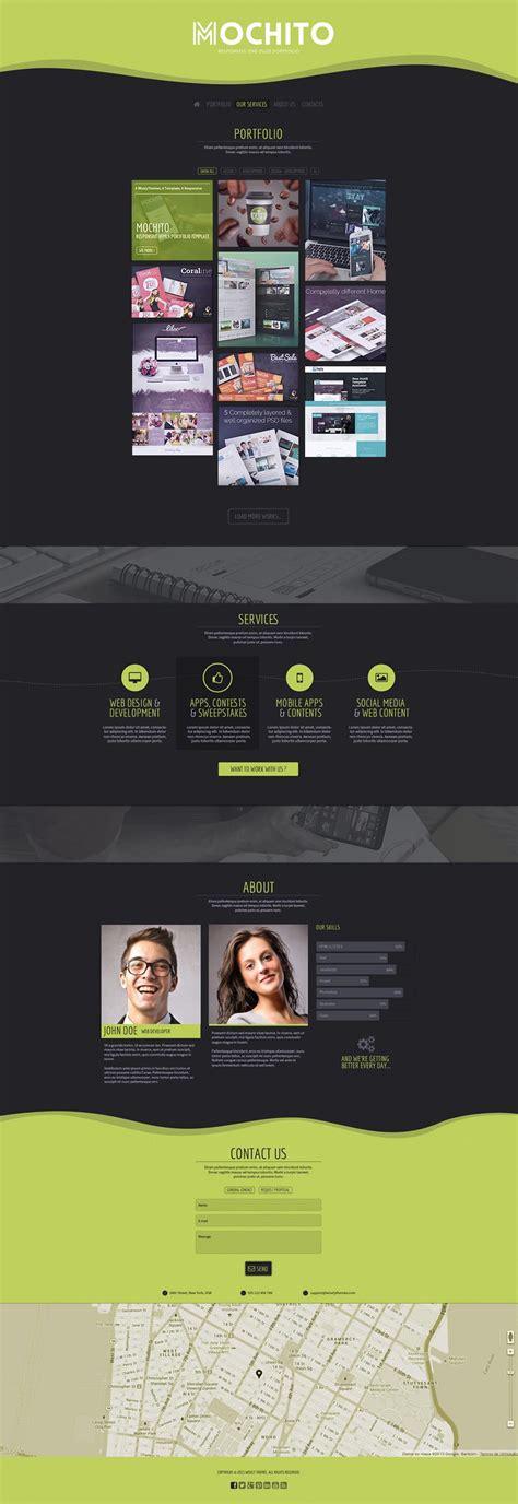 mochito one page portfolio joomla template by