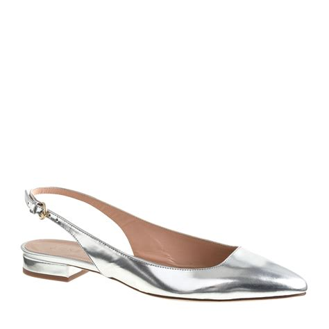 slingback flat shoes j crew preorder mirror metallic slingback flats in