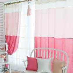 Hot pink curtains for girls room sweet pink cotton and fiber