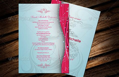 layout for invitation card for debut debut invitation template 28 free word pdf psd format