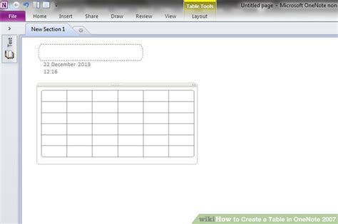 Create A Table by How To Create A Table In Onenote 2007 10 Steps With