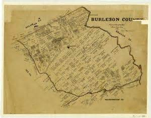 burleson county map burleson county the portal to history