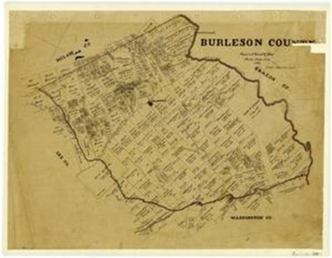 map of burleson county texas burleson county the portal to texas history