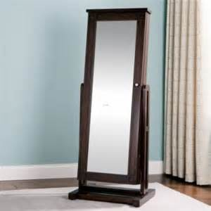 jewelry armoire cheval mirrored front espresso visual